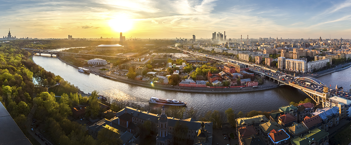 Moscow Panorama. View from roof of old building